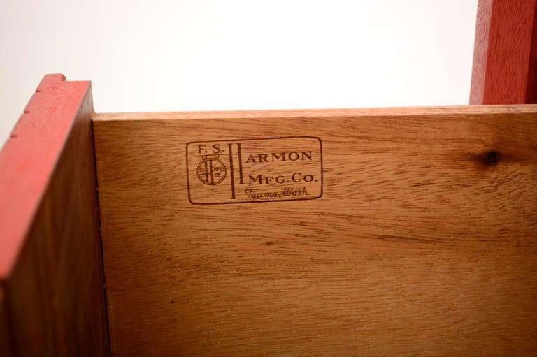 Harmon Mfg Co Hollywood Regency Double Dresser At 1stdibs