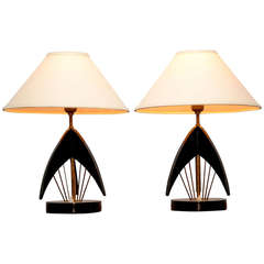 Pair of MCM Atomic Table Lamps