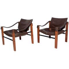 Pair of Arkana Safari Chairs by Maurice Burke