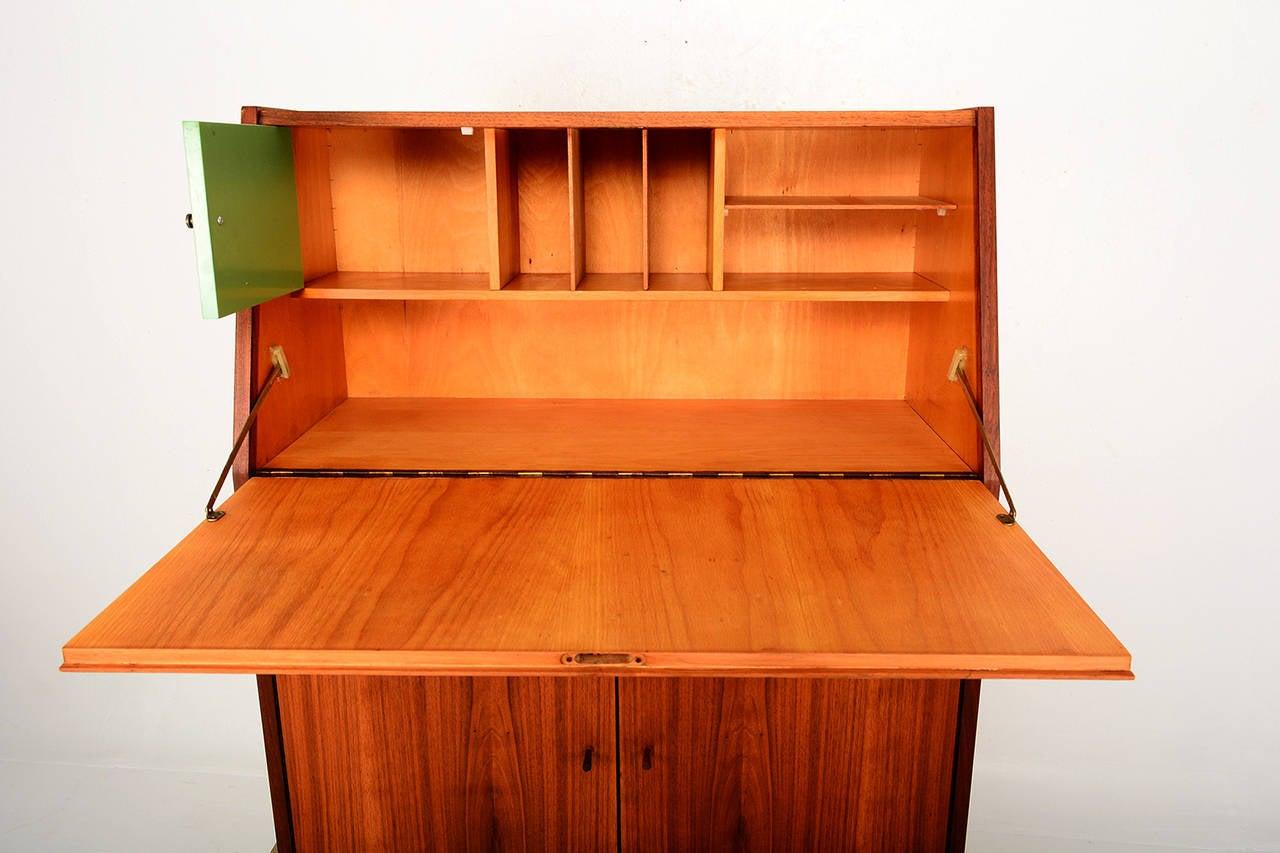 mid century modern secretary desk at 1stdibs. Black Bedroom Furniture Sets. Home Design Ideas