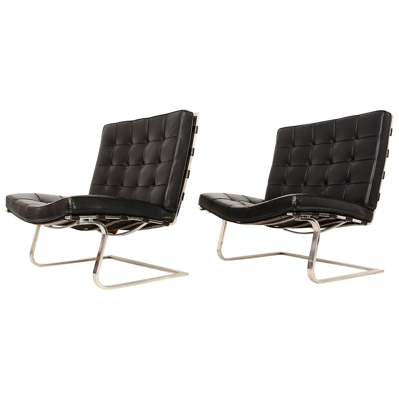 mies van der rohe tugendhat lounge chairs for knoll for sale at 1stdibs. Black Bedroom Furniture Sets. Home Design Ideas