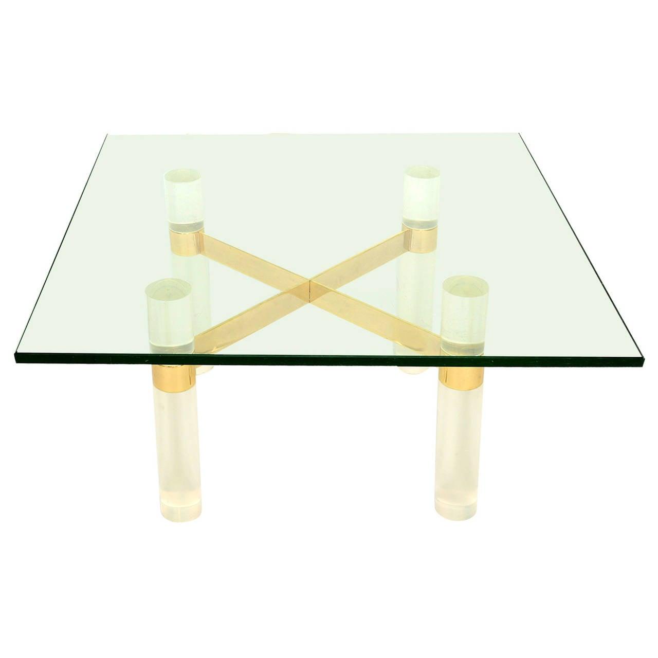 Karl Springer Lucite Coffee Table Base 1
