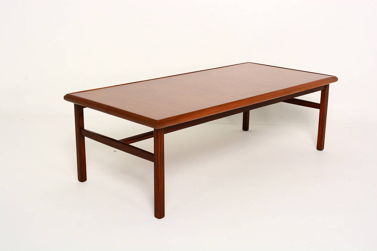 Mid century modern walnut coffee table for sale at 1stdibs for Mid century modern coffee table