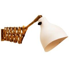 Mid Century SWISS Modern Alfred Muller Scissor Wall Lamp Sconce by AMBA