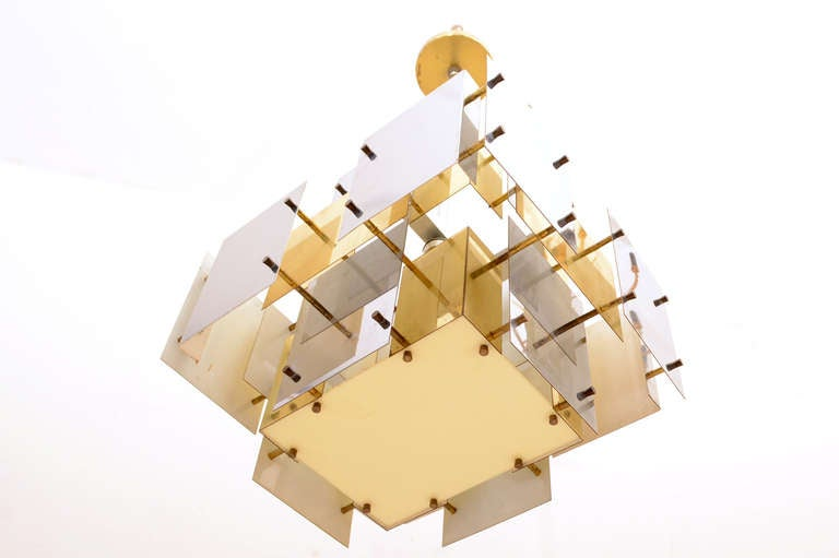 Mid Century Modern Brutalist Robert Sonneman Chandelier For Sale At 1stdibs