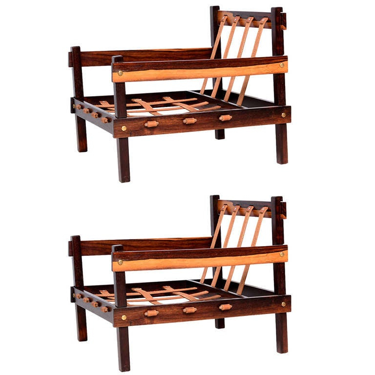Pair Of Brazilian Rosewood Chairs 1