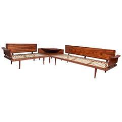 Brazilian Rosewood Sofa and Table set