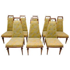 Arturo Pani Set of Eight Dining chairs