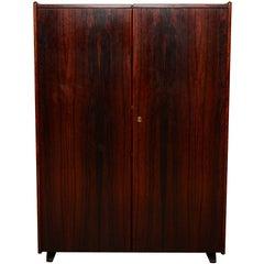 Mid-Century Danish Modern Rosewood Hideaway Desk Cabinet