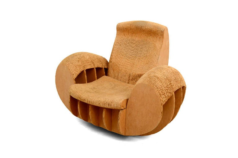 Cardboard Rocker Easy Edges Attributed To Frank O Gehry At