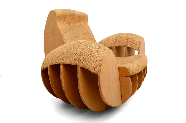 cardboard rocker easy edges attributed to frank o gehry 7 cardboard furniture for sale
