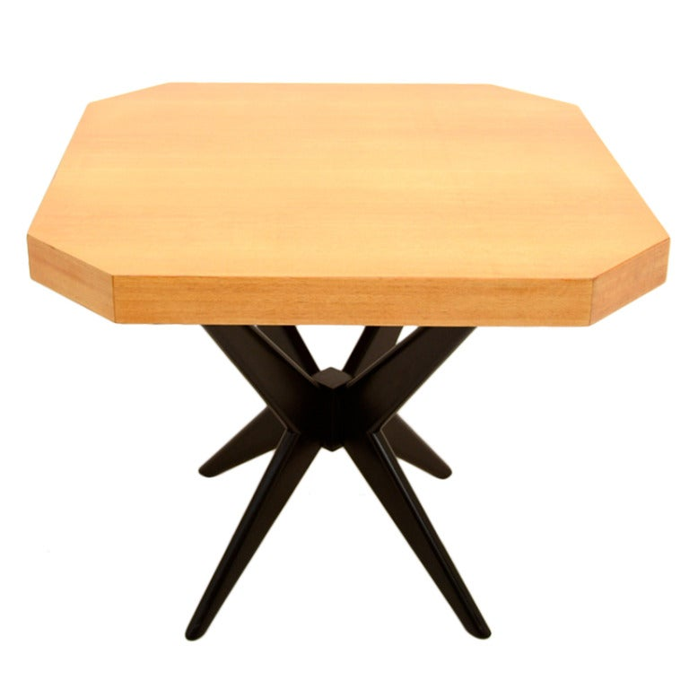 Gueridon table primavera wood at 1stdibs for Table gueridon