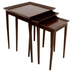 Widdicomb Set of Nesting Mahogany Tables