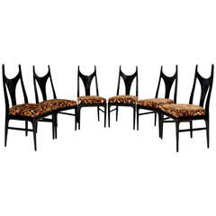 Eugenio Escudero Set of Six Manta Ray Style Dining Chairs