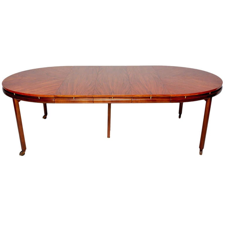 oval dining table by michael taylor for baker at 1stdibs