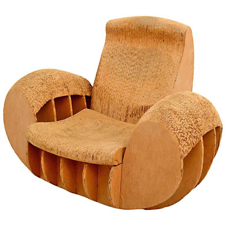 Cardboard Rocker Easy Edges Attributed To Frank O Gehry At 1stdibs