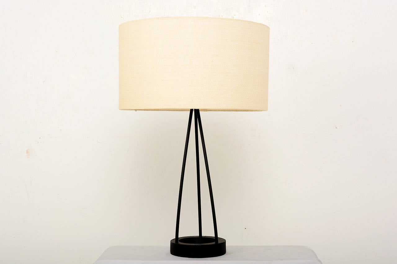 For your consideration a table lamp by Robert Bulmore Shade not included. For props only. Includes the glass shade.  USA made circa 1960s.