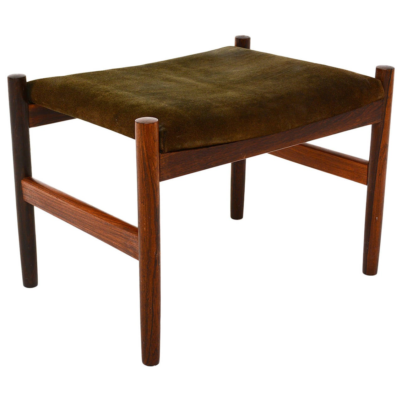 Rosewood Foot Stool Or Bench At 1stdibs