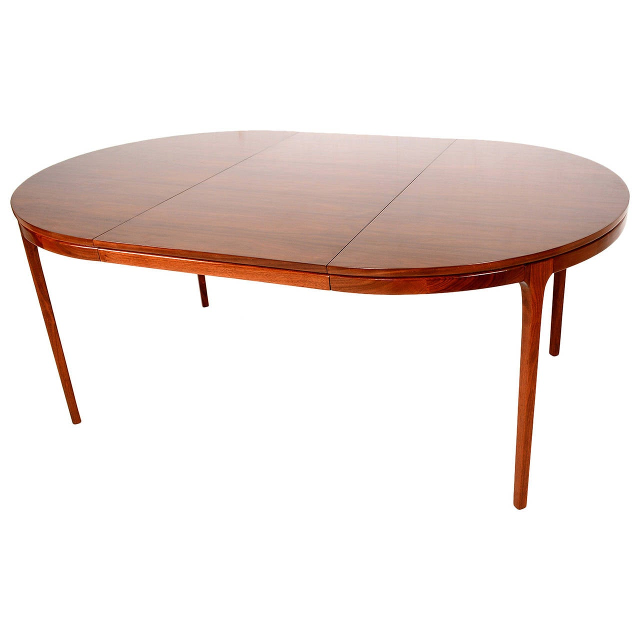 Walnut oval dining table mid century at 1stdibs for Oval dining table