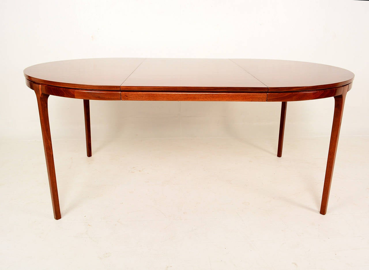 Walnut Oval Dining Table Mid Century At 1stdibs