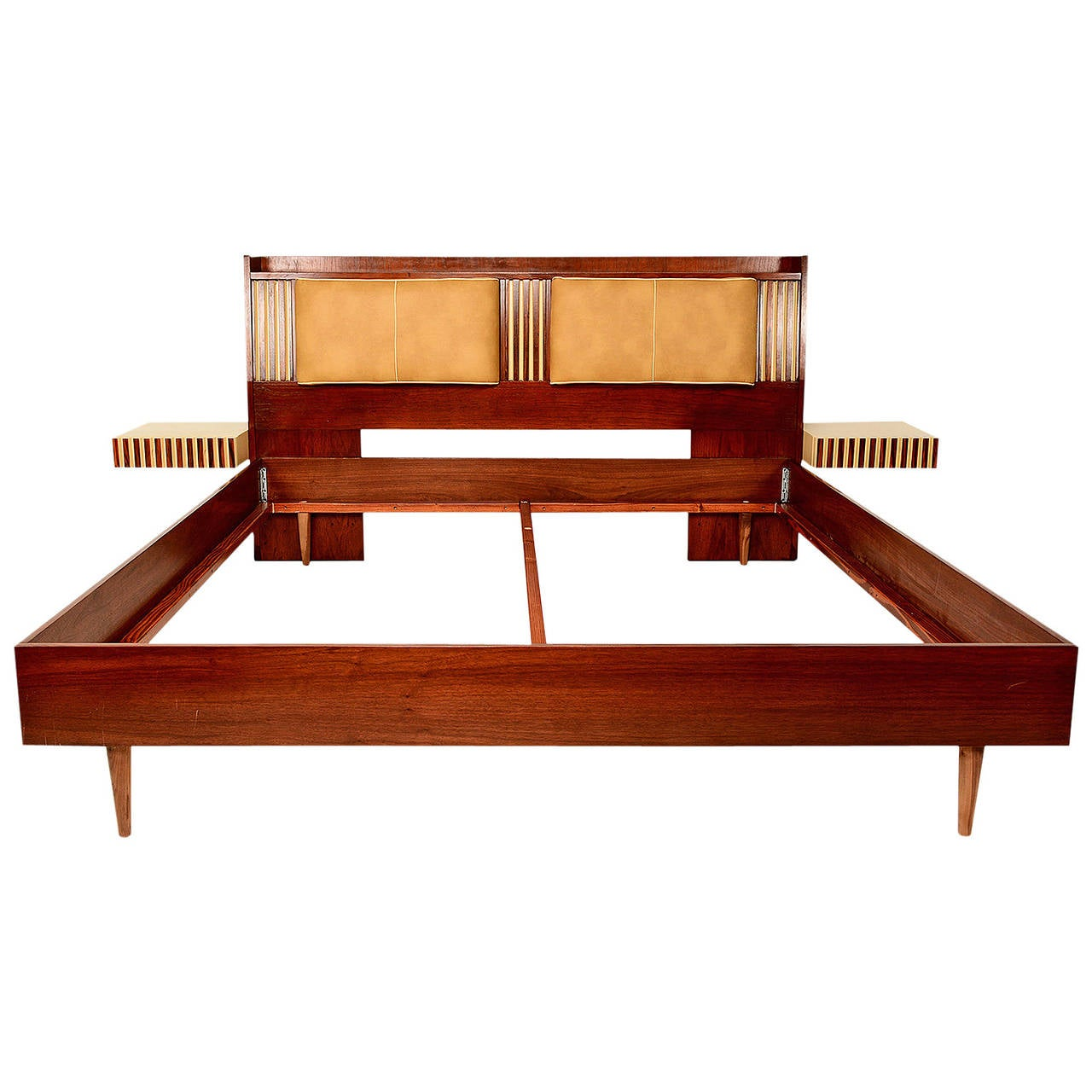 Lane king size platform bed with floating nightstands at 1stdibs - Kingsize platform beds ...