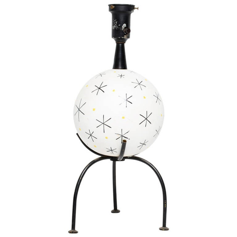 Mid-Century Single Ceramic Table Lamp