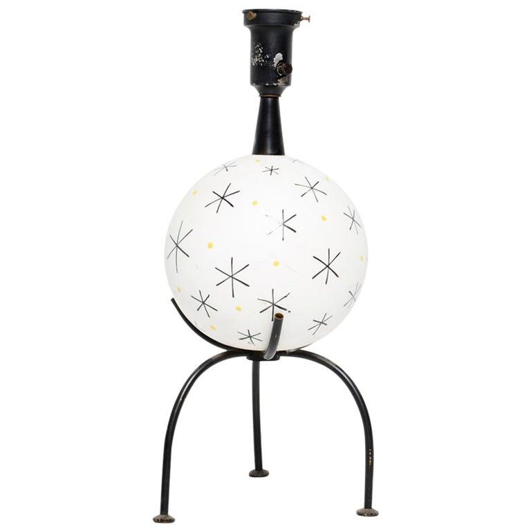 Mid-Century Single Ceramic Table Lamp For Sale