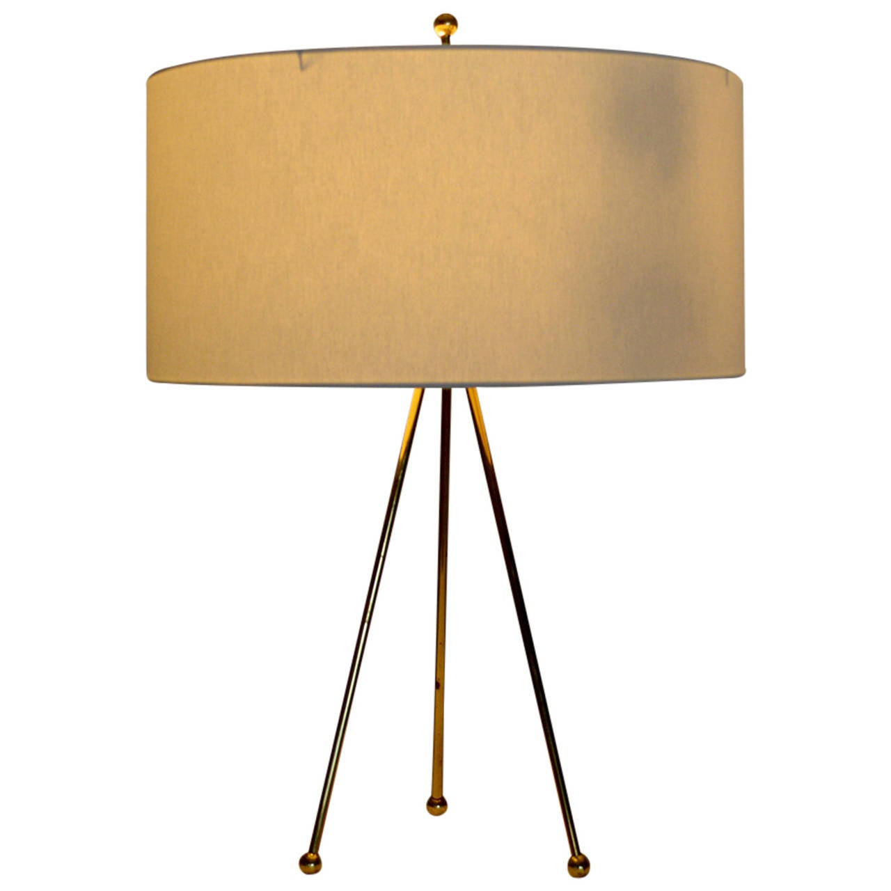 Brass Tripod Table Lamp
