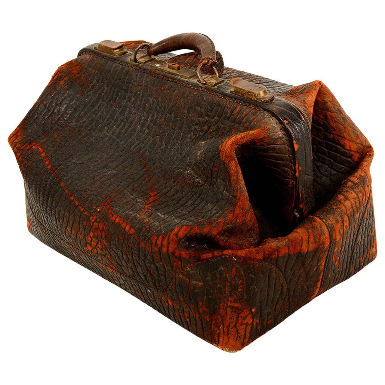 Vintage Leather Doctor's Bag For Sale at 1stdibs