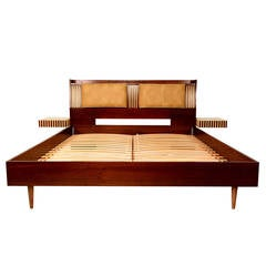 Lane King-Size Platform Bed with Floating Nightstands