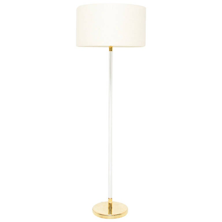 Lucite Floor Lamp For Sale at 1stdibs