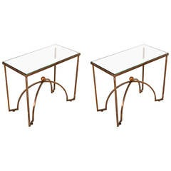 Pair of Brass Side Table by Arturo Pani