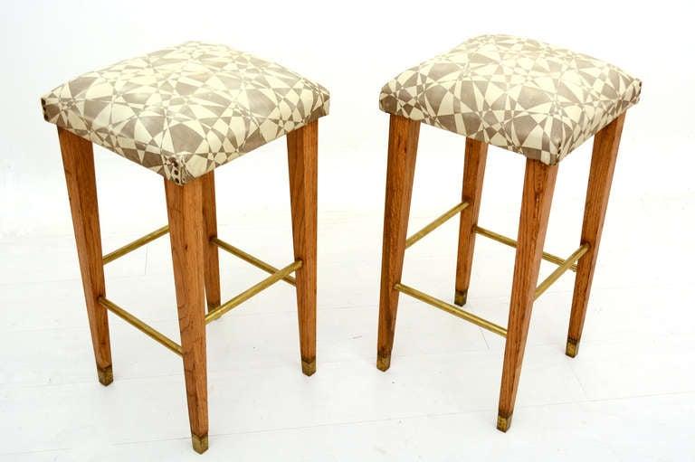 Pair of mid century modern bar stools at 1stdibs