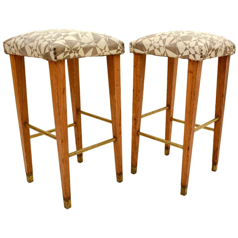 Pair Of Mid Century Modern Bar Stools For Sale At 1stdibs