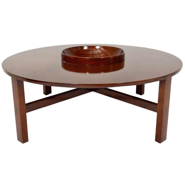 Rare Mid Century Modern Edmond Spence Round Coffee Table