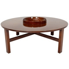 Rare Mid Century Modern Edmond Spence Round Coffee Table