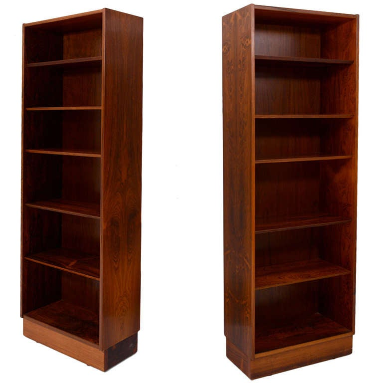 Rosewood Bookcase: Pair Of Danish Bookcases In Rosewood At 1stdibs