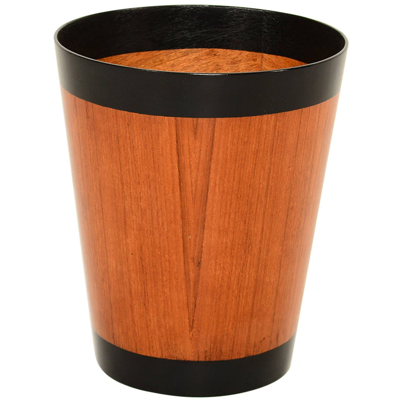 Danish Modern Teak Waste Basket At 1stdibs