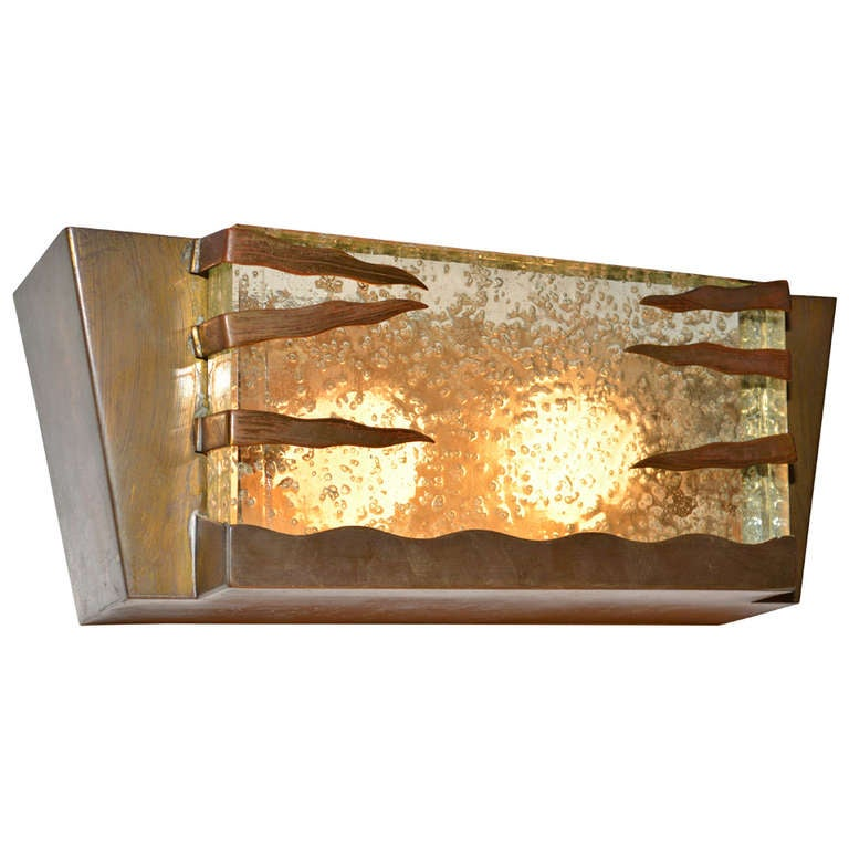 Modern Wall Sconces Italian : Mid Century Modern Italian Wall Sconce with Brass Frame For Sale at 1stdibs