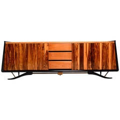 Charmant Mexican Modern Cocobolo Credenza By Frank B. Kyle