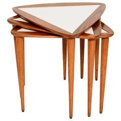 Mid-Century Triangular Set of Tables