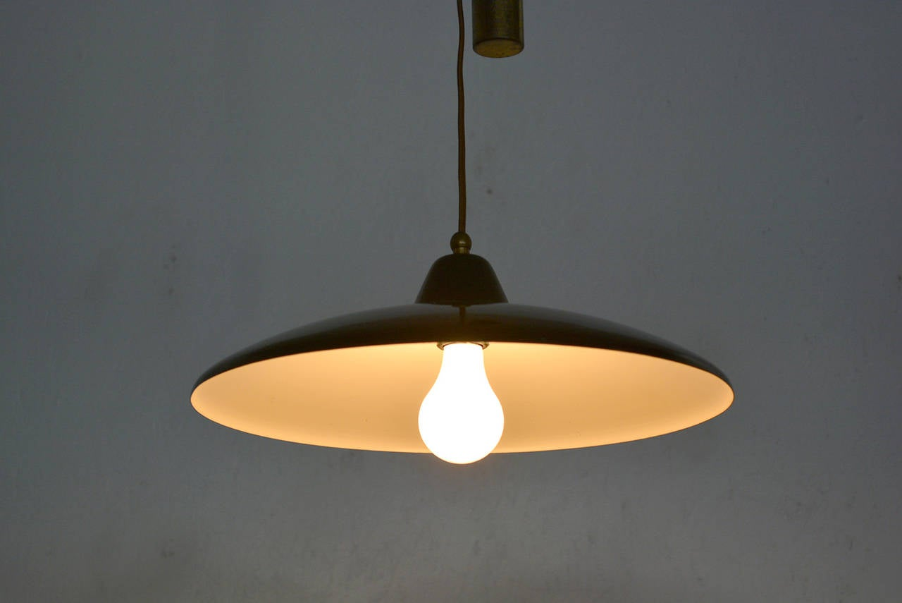 Italian Hanging String Lights : Italian Hanging Light Fixture in the Manner of Stilnovo For Sale at 1stdibs
