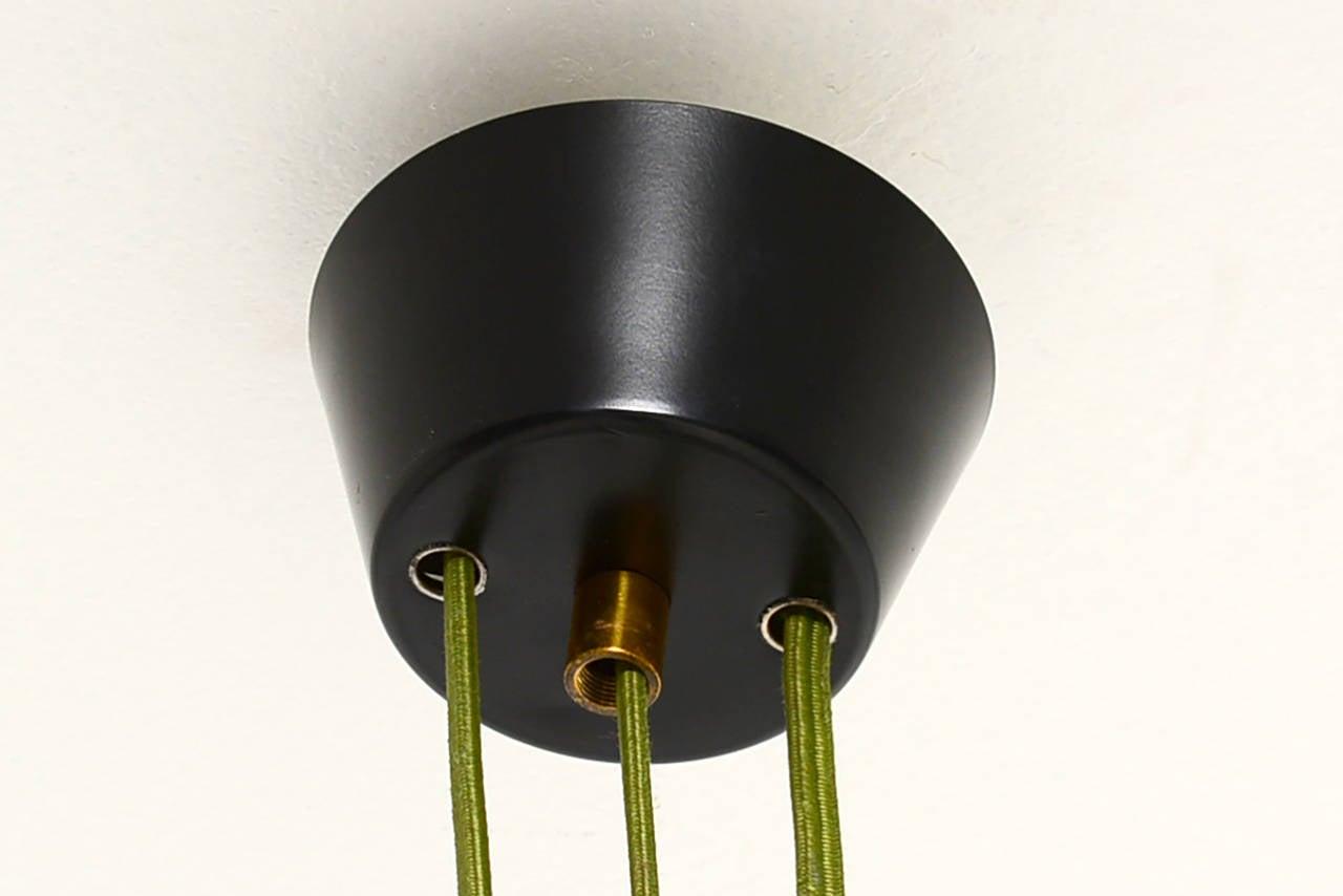 Mid-Century Modern Mid Century Modern Italian Hanging  Light Fixture By Stilux Milano  For Sale