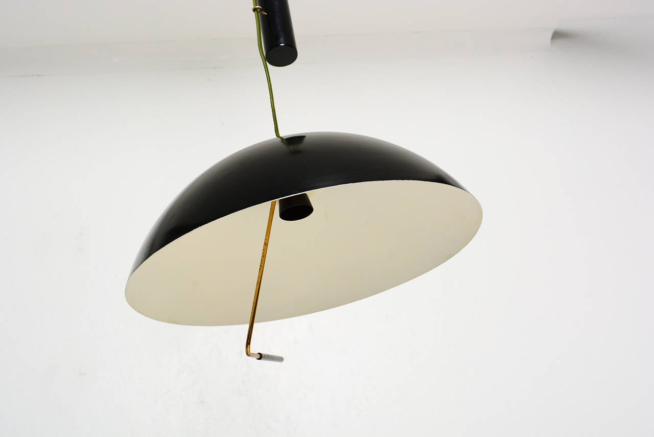 Mid Century Modern Italian Hanging  Light Fixture By Stilux Milano  For Sale 1