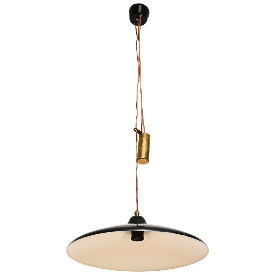 Italian Hanging Light Fixture in the Manner of Stilnovo