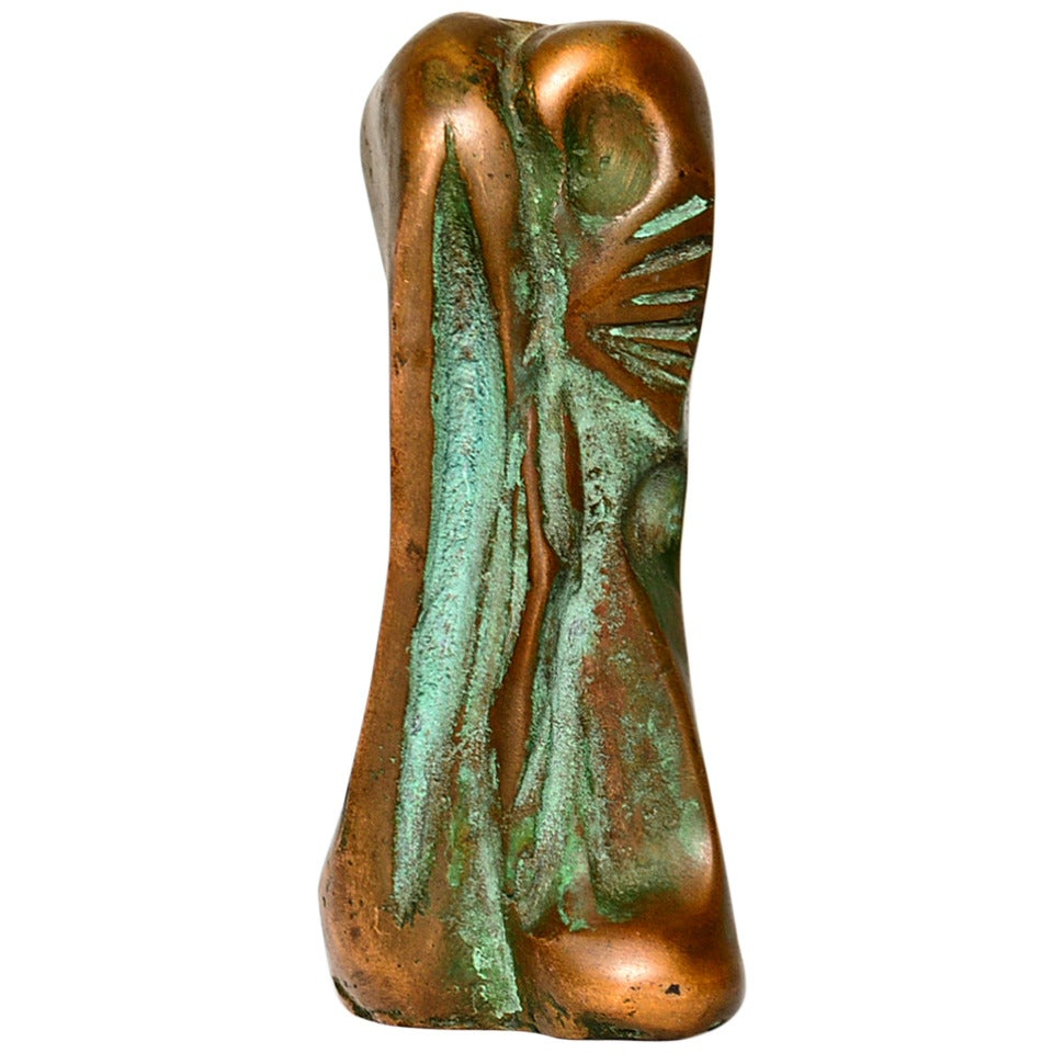 Small Abstract Bronze Sculpture in the Manner of Boyd