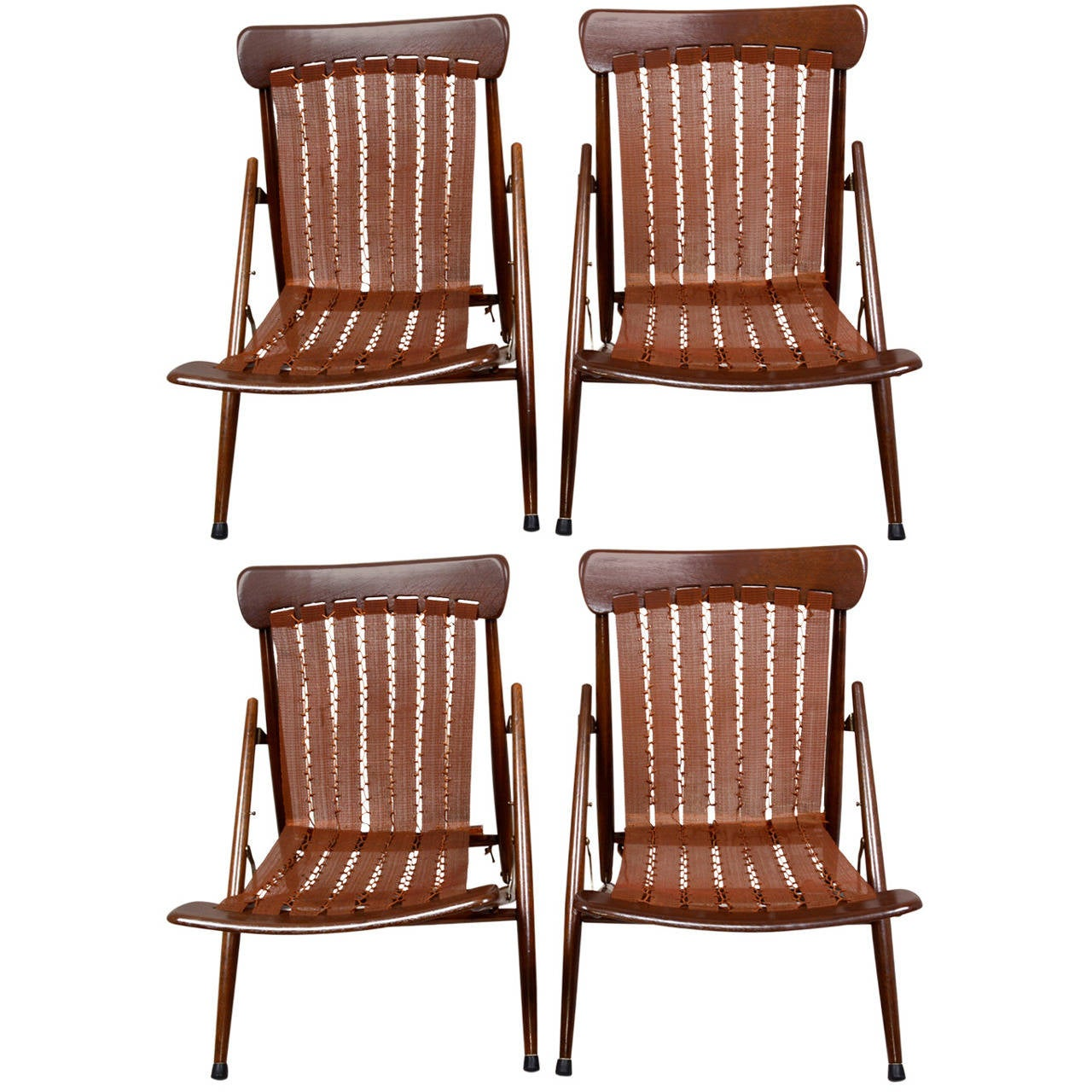Vita Sleep Folding Lounge Chairs at 1stdibs
