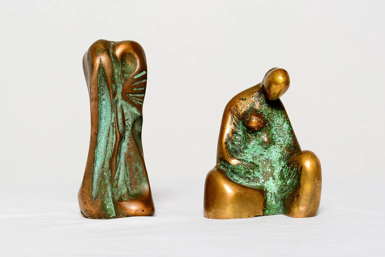Folk Art Small Abstract Bronze Sculpture in the Manner of Boyd For Sale