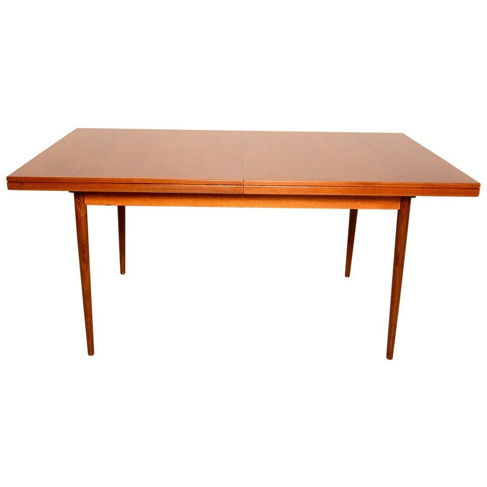Danish modern teak dining table at 1stdibs - Dining table scandinavian ...