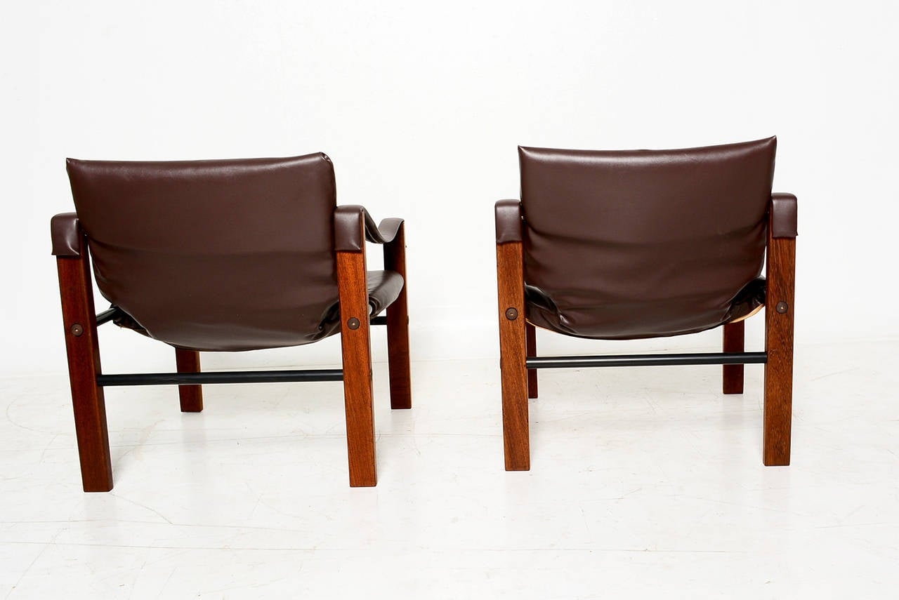 Pair Of Arkana Safari Chairs By Maurice Burke At 1stdibs